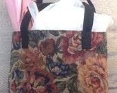 Tote Bag, Book Bag, Lunch Bag, Small Tapestry Bag