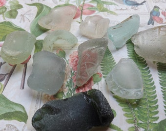 Beach glass ,ocean glass , sea glass , Scottish sea glass,  large sea glass