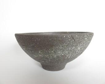 Ceramic bowl, black bowl, hand painted, milky way, wheel thrown, Ceramics and Potery, salad bowl