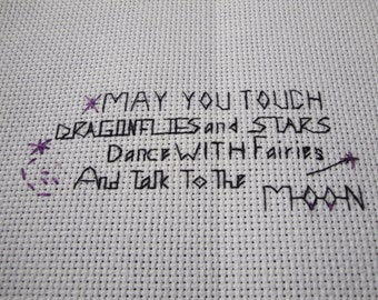 Completed Cross-stitch, May You Touch
