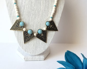Aztec Necklace, Tribal Necklace