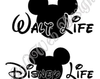 Walt Life, Disney Life Inspired Vinyl Car Decal