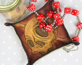Leather Coin Tray Etsy