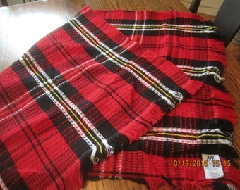 Red Plaid Throw Blanket Northwest Company Bright Colors