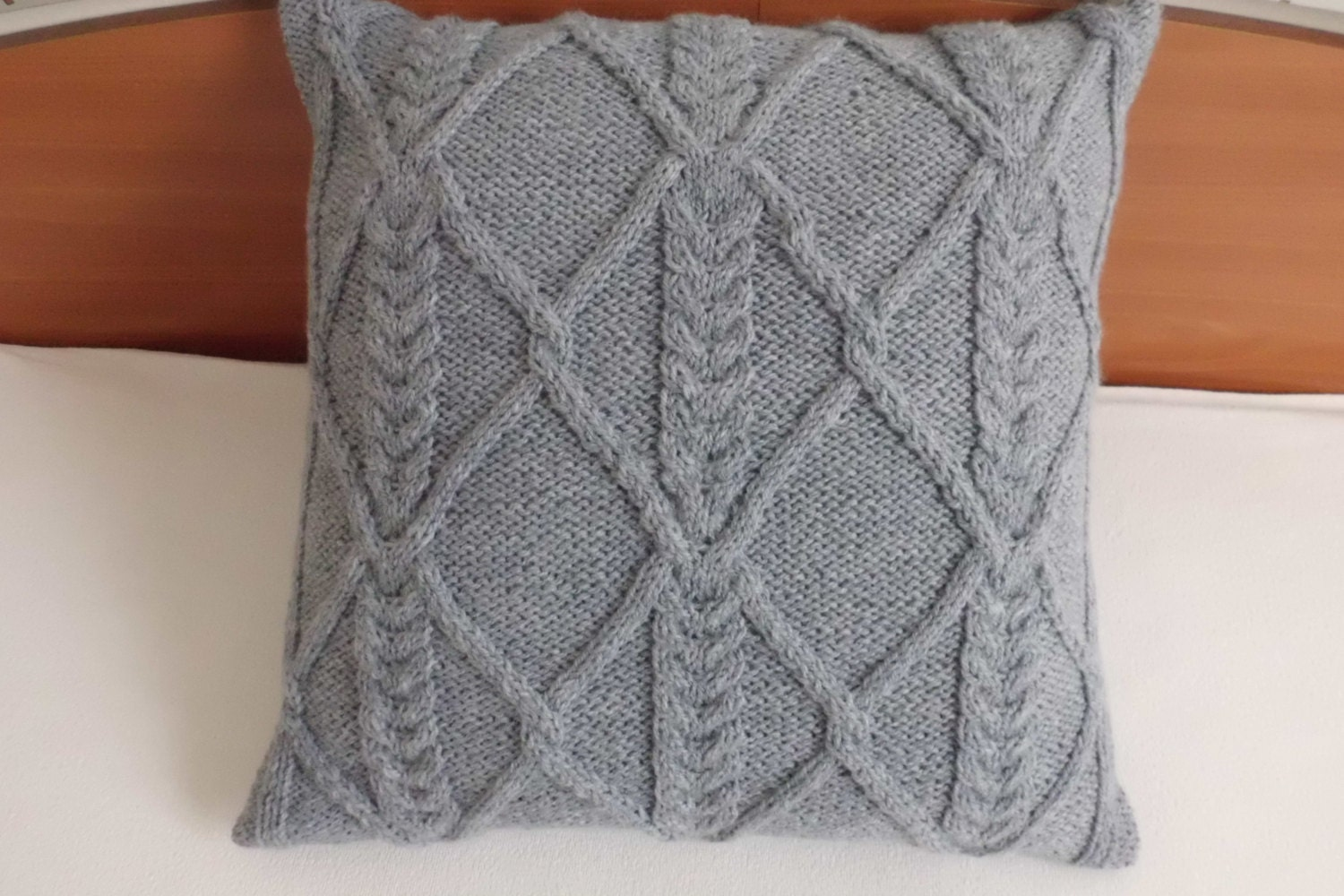 Custom Knitted Pillow Case Gray Throw Pillow Cover Charcoal