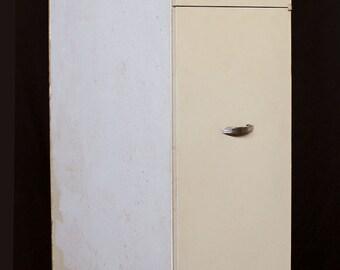 """15""""x22""""x88.5""""H Vintage Metal Kitchen Cabinet  w/2 Doors"""