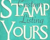 Custom Listing for Tanya