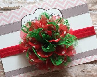 Christmas Headband- Headband-Baby Girl Headband-Baby Headband-Baby-Baby Girl-Newborn Headband-Baby Headbands-Infant Headband-Christmas
