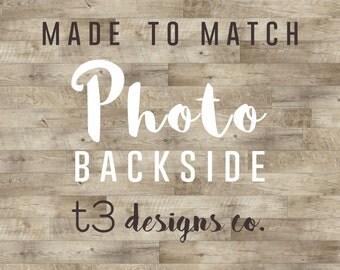 Custom Photo Backside Add-on