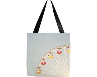 Ferris Wheel Photography, Grocery sack, teacher tote, gym bag, beach bag, yoga gear, diaper bag, mothers day, gifts, birthday, Mom, baby