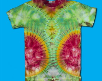 Slimming Ice Dyed T-Shirt L, Tie Dye, Ice Dyed FIGURE FLATTERING