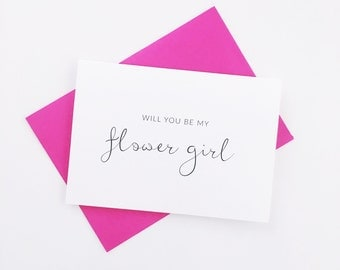 Flower Girl Cards - Bridesmaid Cards - Will you be my bridesmaid card - Bridesmaid Proposal