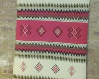 Kilim Wall Art, Small Rug, Red, Grey, Black, White, Weaving