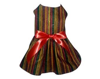 Dog Dress, Fall Stripes