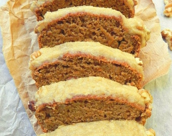 Vegan Carrot Loaf with Cinnamon Citrus Icing