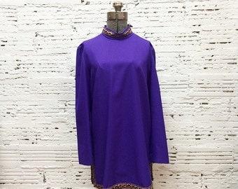 Gogo Mini Dress in violet - Medium