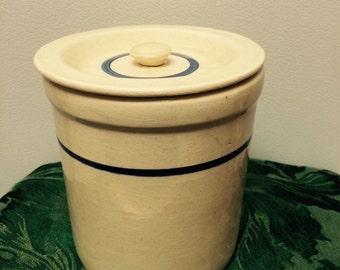 Crock with lid