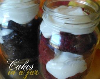 Red Velvet Cake 'In A Jar'