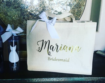 Destination wedding tote bag, bridesmaid gift, bride team, Christmas gift