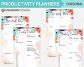 Filofax Personal Filofax Inserts, Daily Planner Inserts, Printable Planner Inserts, Agenda Weekly Planner, To Do List