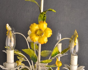 beautiful toleware flower chandelier.