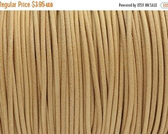 30% OFF 2MM Round Leather Cord - Natural - 2Yards/6ft - High Quality European Leather Cord
