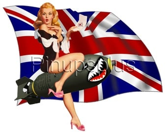 british flag furniture. delighful flag sexy british flag union jack pinup girl waterslide decal for guitars  lockers toolboxes intended furniture e