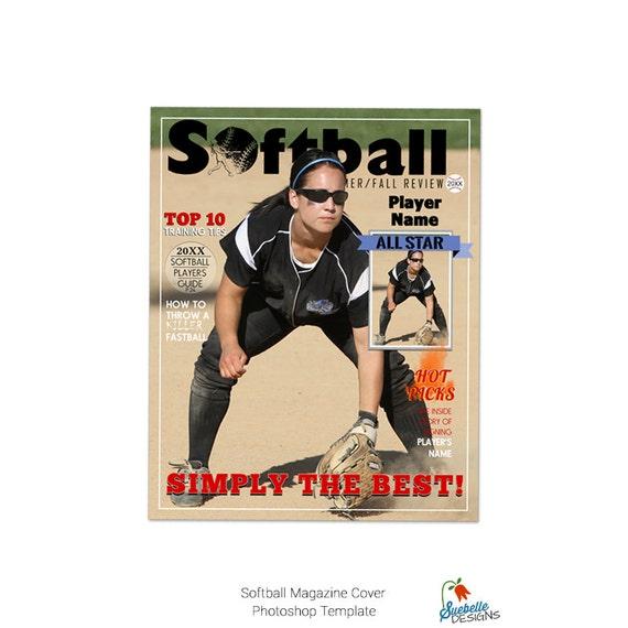Softball Magazine Cover Template 001