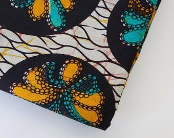 African Wax Print Fabric / Batik Fabric / Sold By The Half Yard / 100% cotton