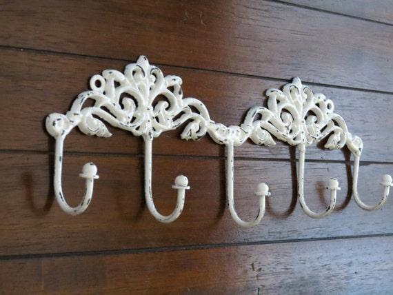 Shabby Chic Wall Hook Rack Entrance Coat Hanger Decorative