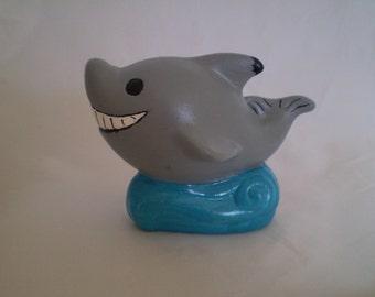 Little Jaws Grey Shark Statue