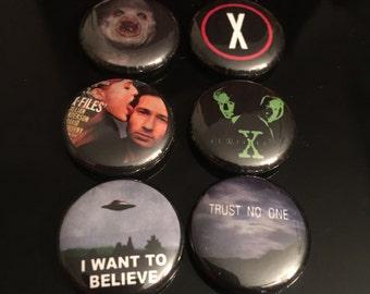 """X-Files 1"""" Button Set"""