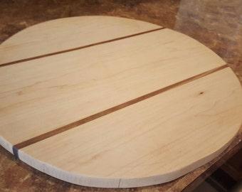Maple Walnut Large round cutting board rustic