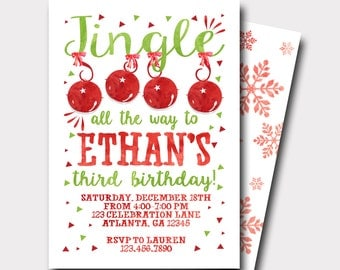 Winter Birthday Invitation | Snowflake Birthday Invitation | Christmas Birthday Invitation | Pink and Gold Invitation | First Birthday