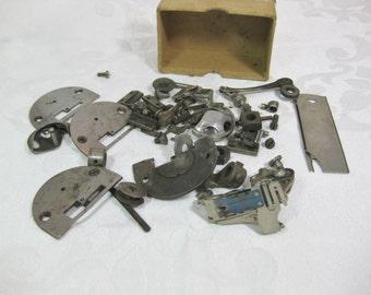 Metal Sewing Machine Parts, Steampunk Supplies, Vintage Sewing Machine Parts