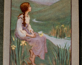 Exquisite 1909 Fairy Tale Postcard by Sybil Barham