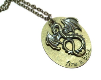 fire and blood dragon necklace