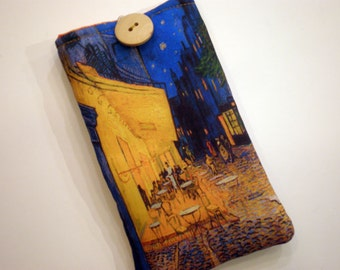 Van Gogh art - Sunglass case - Fabric eyeglass sleeve - Cover for sunglasses - Quilted sunglass case - Glass sleeve