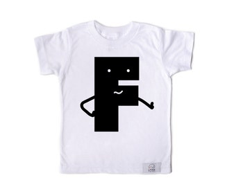 Letter F Kids T-shirt White