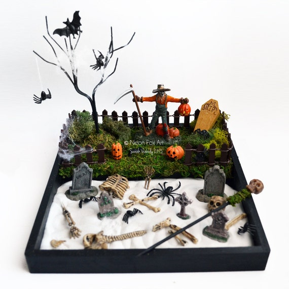 Mini Zen Garden Halloween Decor Desk Accessory
