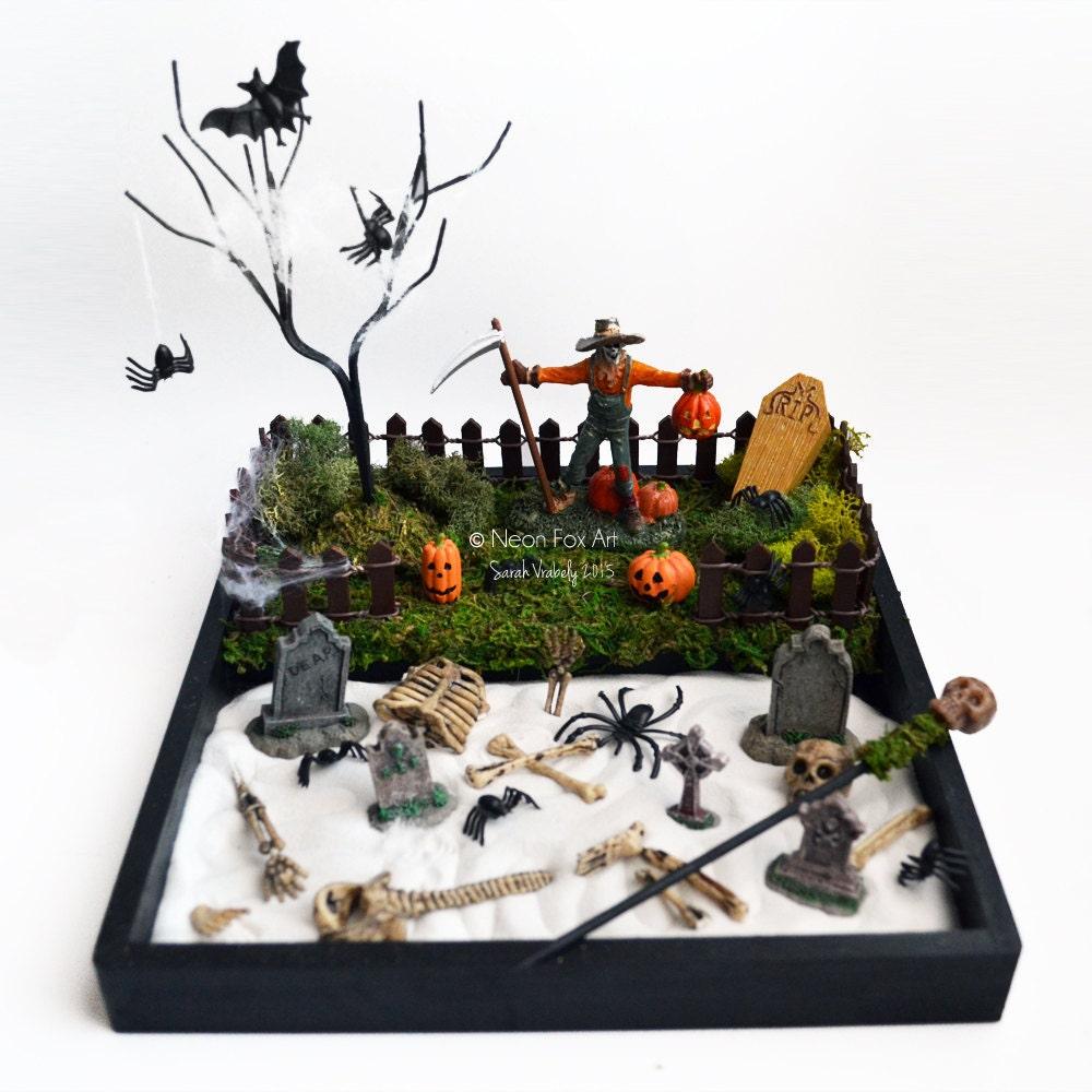 Mini Zen Garden Halloween Decor Desk Accessory