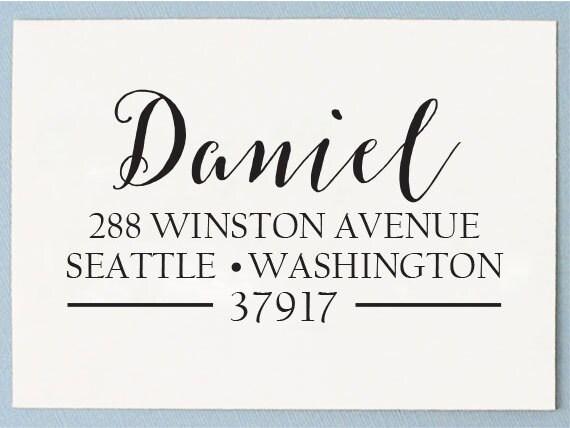 Custom Return Address Stamp Calligraphy Self Inking Address