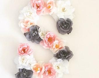 "9"" Custom Floral Letter"