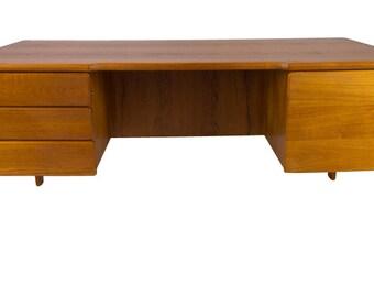 Teak Desk Danish Modern Mid Century