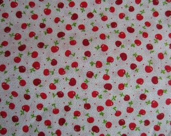 Cherry Motif One Yard Fabric, Cherry Fabric One Yard Quilting, Cherries Fabric, Fabric yardage cherries