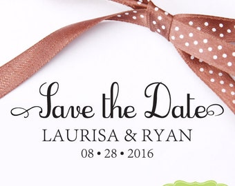 CUSTOM Save The Date STAMP from USA, Pre Inked stamp, Self Inking Stamp, rsvp stamp, Custom Stamp with proof, Custom Wedding Stamp rb5-17