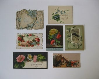 Collection of Victorian Era Calling Cards, Christmas Cards and Greeting Card - All Authentic Cards Dating from 1879