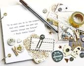 Journal Kit / Art Journal / Travel Journal / Junk Journal Kit / Writing Set / Snail Mail / Travel Diary / Mixed Media Kit / Planner Kit