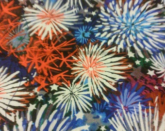Patriotic Fireworks Flags (set of 4)
