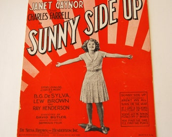 Vintage Sheet Music, Sunny Side Up, If I Had A Talking Picture of You